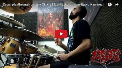 Photo of [NOTICIAS] Fabio (ex-INTERNAL SUFFERING) es el nuevo batería de CHRIST DENIED