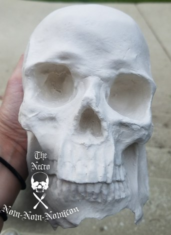 poured skull