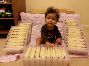 Baby Clarissa's mommy is a lifesaver! Thank you for donating milk to fragile babies!
