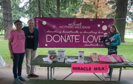 NEC Society Leadership Committee member Sejal Fichadia (left) at a Miracle Milk Stroll in the Pacific Northwest