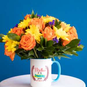 Mothers Gift Cup Bouquet