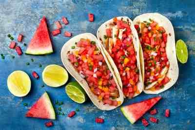 watermeloen taco