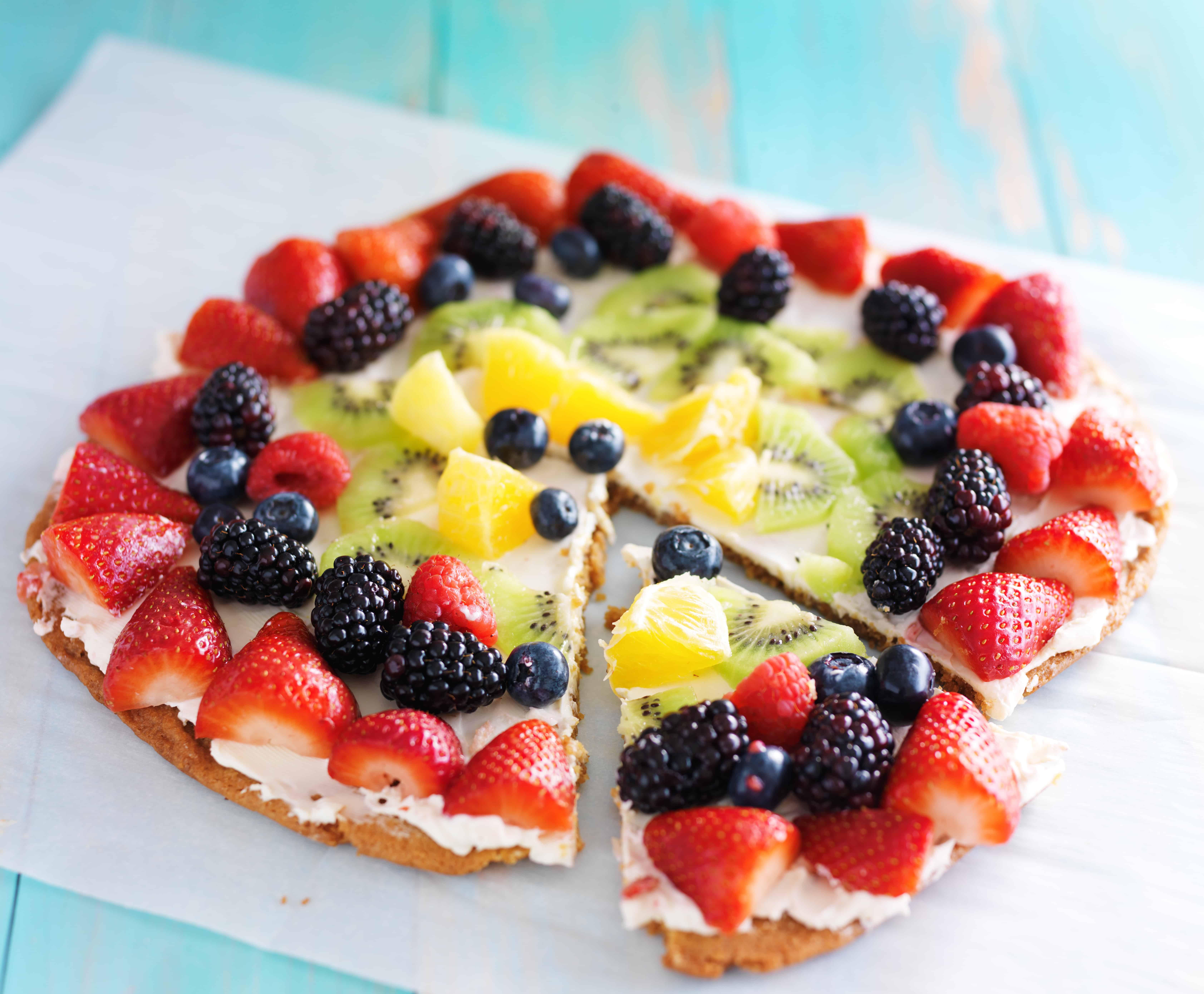 fruit pizza ontbijt pizza