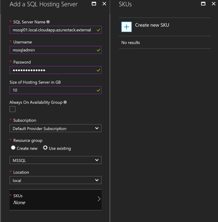Hosting server settings