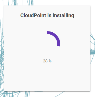 Machine generated alternative text: CloudPoint is installing  28 %