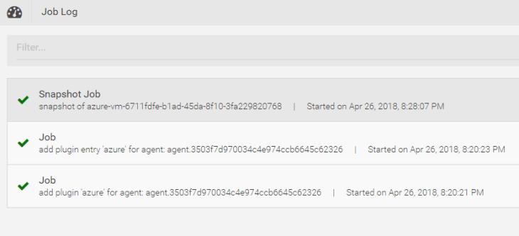 Machine generated alternative text: Job Log