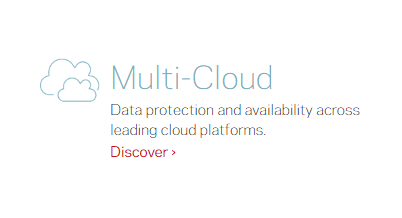 Machine generated alternative text: Multi-Cloud  Data protection and availability across  leading cloud platforms.  Discover