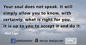 Read more about the article Your soul does not speak.