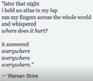 by Kenyan-born Somali poet Warsan Shire