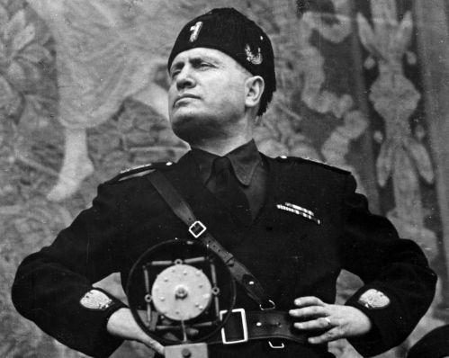 """Italy's dictator Benito """"Il Duce"""" Mussolini."""