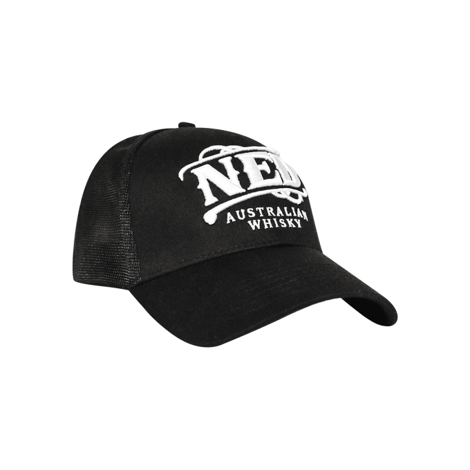 NED Whisky Cap Trucker Cap Mesh Fitted White Logo