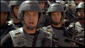Michael Ironside and Casper Van Dien from Starship Troopers