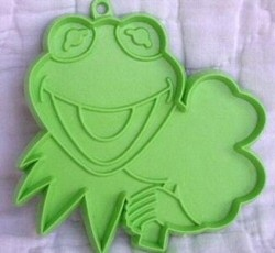 Kermit St. Patrick's Day cookie cutter