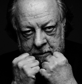 Ricky Jay with fists up