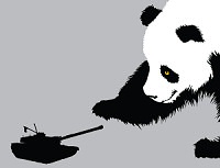 Pandamonium t-shirt from Threadless