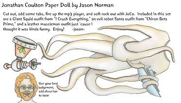 Jonathan Coulton Paper Doll by Jason Norman