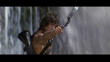 Sylvester Stallone is John Rambo in Rambo: First Blood, Part 2