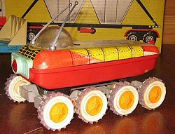 Soviet Toy, looks like the rover from Moon Patrol