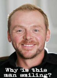 Simon Pegg, smiling