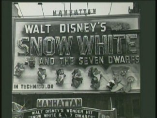 Walt Disney's Snow White and the Seven Dwarfs ad from 1937