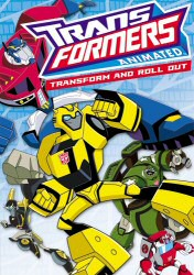 Transformers Animated: Transform and Roll Out DVD Cover Art