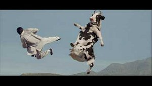 The CG cow fight from Kung Pow: Enter the Fist