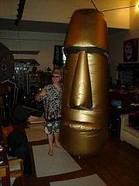 Inflatable Moai