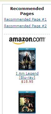 Amazon Recommender Widget