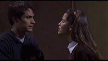 Gael García Bernal as Padre Amaro and Ana Claudia Talancón as Amelia in The Crime of Padre Amaro