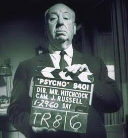 Alfred Hitchcock from Psycho