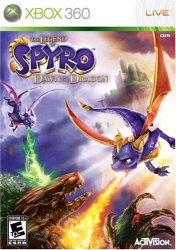 The Legend of Spyro: Dawn of the Dragon Xbox 360 cover art