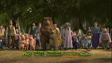 DVD Menu from Shrek
