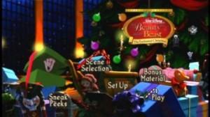 Beauty and the Beast Christmas Menu