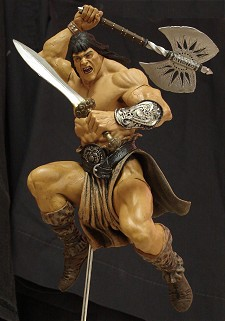 Conan action figure in mid-leap