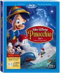 Pinocchio Platinum Blu-Ray cover art