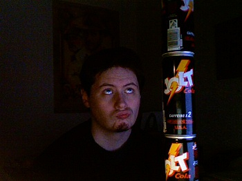 Dom contemplates the Tower of Jolt