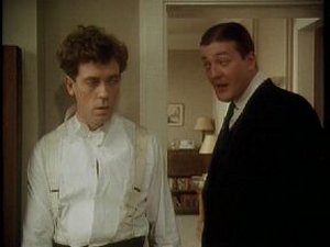Hugh Laurie as Wooster and Stephen Fry as Jeeves