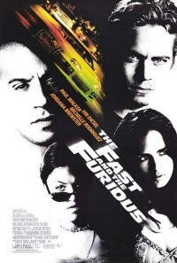 The Fast and the Furious (2001) movie poster art