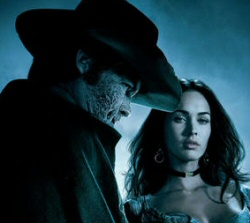 Josh Brolin as Jonah Hex with Megan Fox