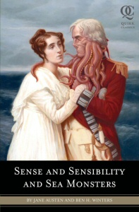 Sense and Sensibility and Sea Monsters book cover art