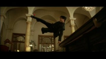 Jet Li pool ball kick from Kiss of the Dragon