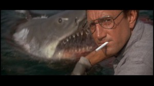 Roy Scheider and friend from Jaws