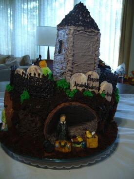 Graveyard Book Cake - Back