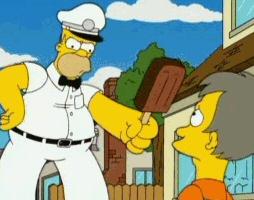 Homer Simpson, the ice cream man