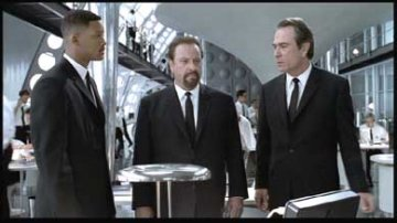 Will Smith, Rip Torn and Tommy Lee Jones in Men in Black