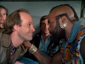 Dwight Schultz and Mr. T from The A-Team