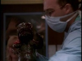 Anthony Edwards and guest star alien baby in ER season 1