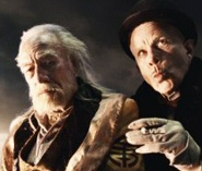 Christopher Plummer and Tom Waits in The Imaginarium of Dr. Parnassus
