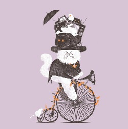Threadless: The Cat Who Mistook His Wife And The Kids And The Furniture And Even The Parrot For A Hat