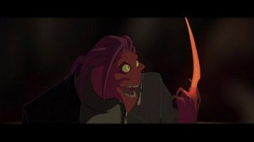 Thrax (voiced by Laurence Fishburne) in Osmosis Jones